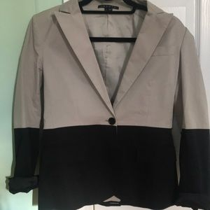 Theory tan and black blazer